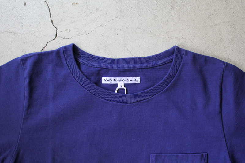 Daily-Wardrobe-Industry|7days-Crew-Neck-Pocket-Tee|Blue【3】
