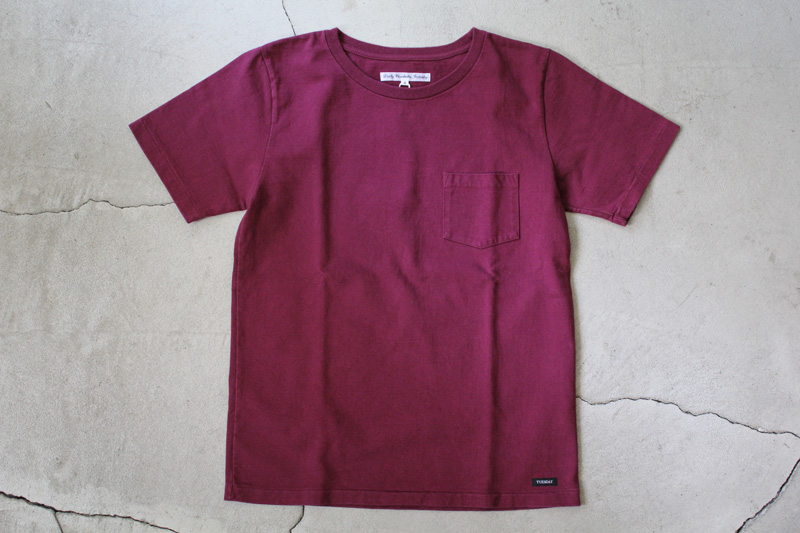 Daily-Wardrobe-Industry|7days-Crew-Neck-Pocket-Tee|Burgundy【★】diaries