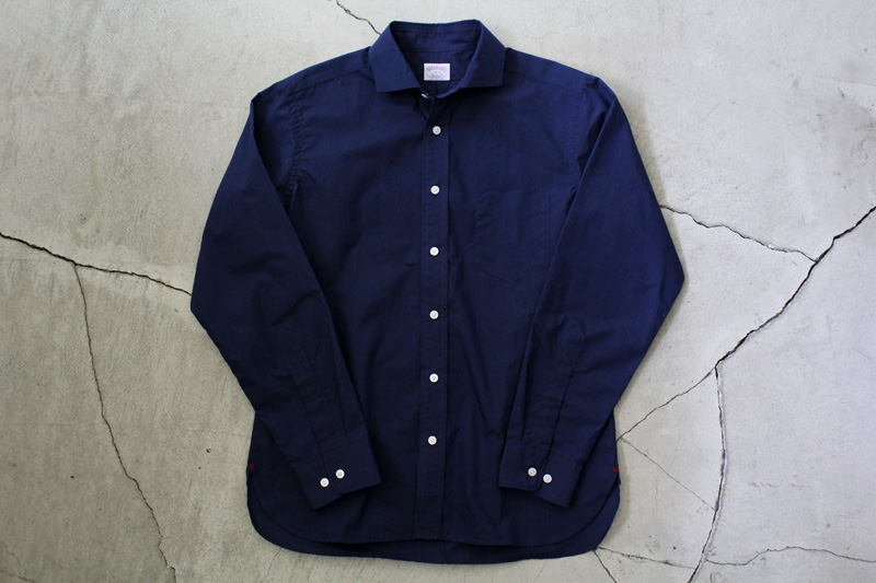 WORKERS|Widespread-Collar-Shirt|Indigo【1】diaries-blog