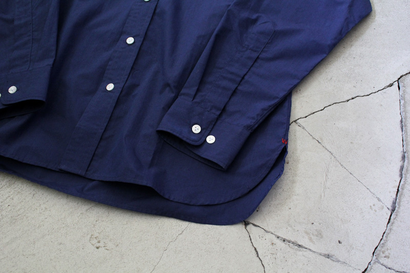 WORKERS|Widespread-Collar-Shirt|Indigo【3】diaries-blog