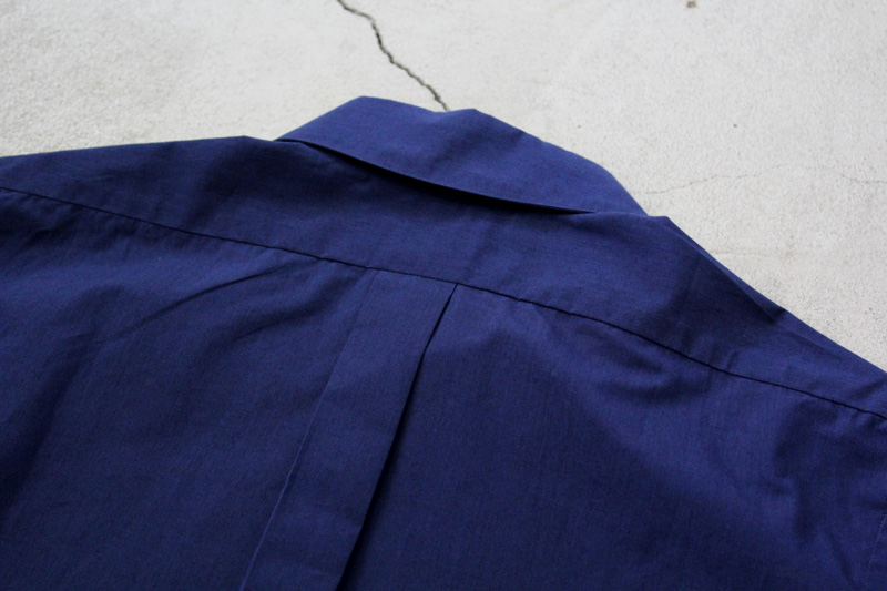 WORKERS|Widespread-Collar-Shirt|Indigo【4】diaries-blog