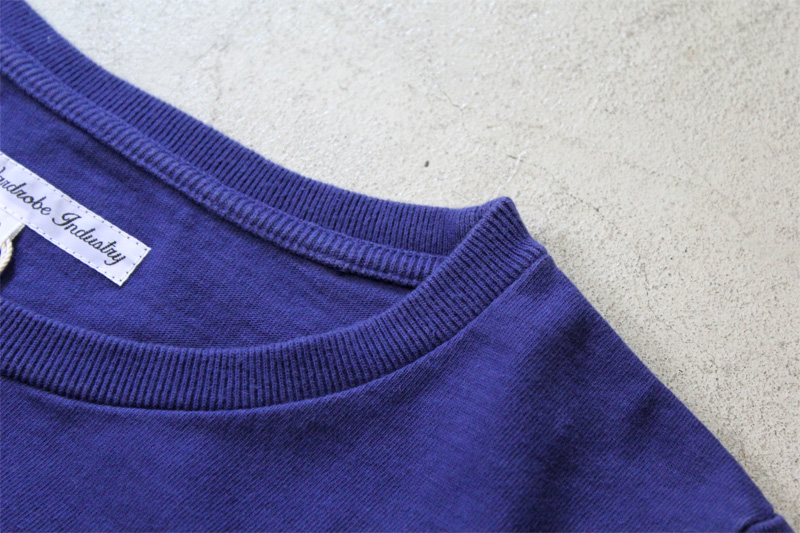 Daily-Wardrobe-Industry|7days-Crew-Neck-Pocket-Tee|Blue【4】