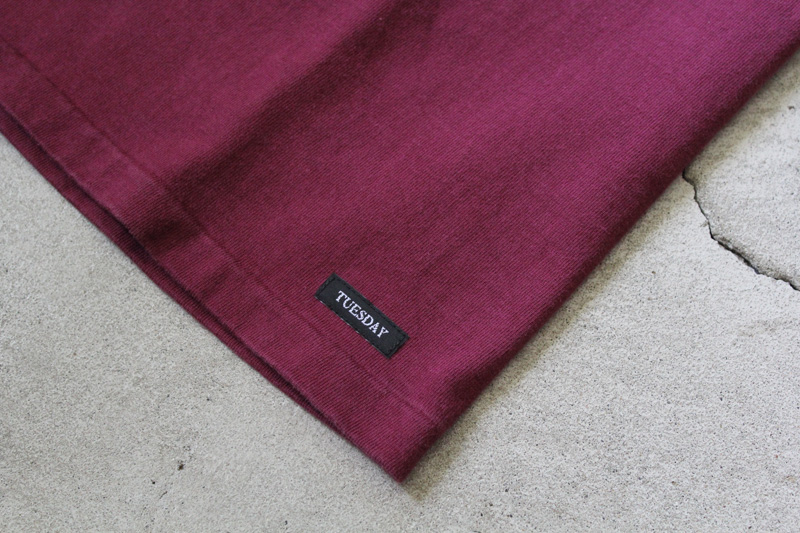 Daily-Wardrobe-Industry|7days-Crew-Neck-Pocket-Tee|Burgundy【1】diaries