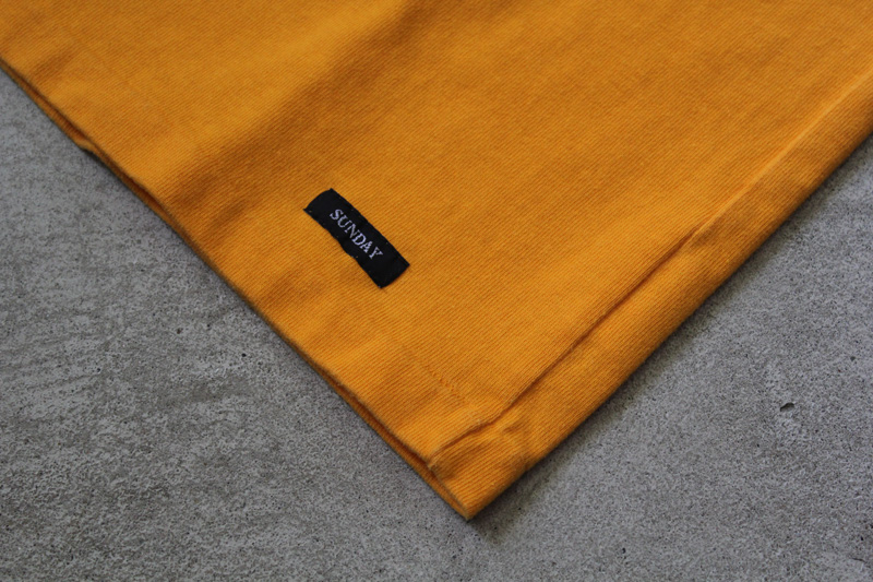 Daily-Wardrobe-Industry|7days-Crew-Neck-Pocket-Tee|Yellow【1】