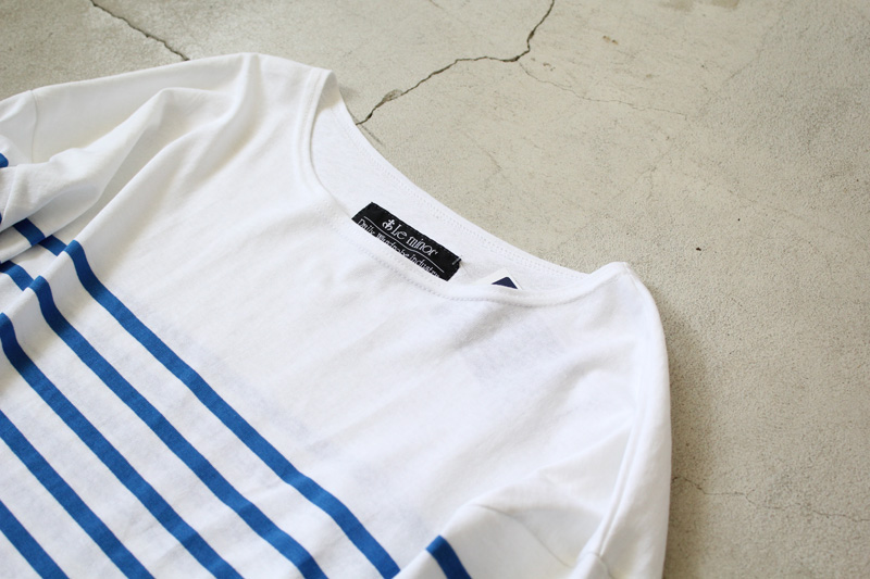 Le-minor-by-Daily-Wardrobe-Industry|Tunic|White×Blue【2】diariesblog