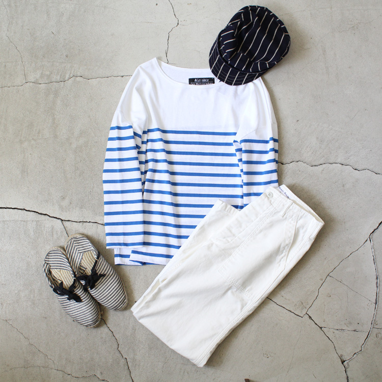 Le-minor-by-Daily-Wardrobe-Industry|Tunic|White×Blue【5】diariesblog